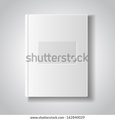 Blank book with white cover. - stock vector