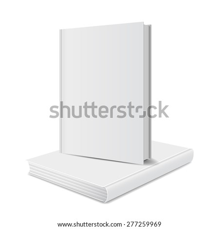 blank books front view cover white. vector illustrations - stock vector