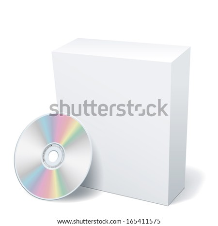 Blank box and DVD. EPS-10 - stock vector