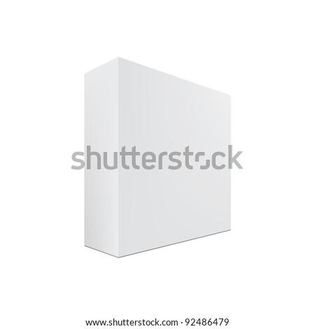blank box isolated. Vector - stock vector
