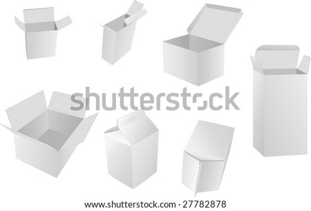 blank boxes. box package. vector illustration - stock vector