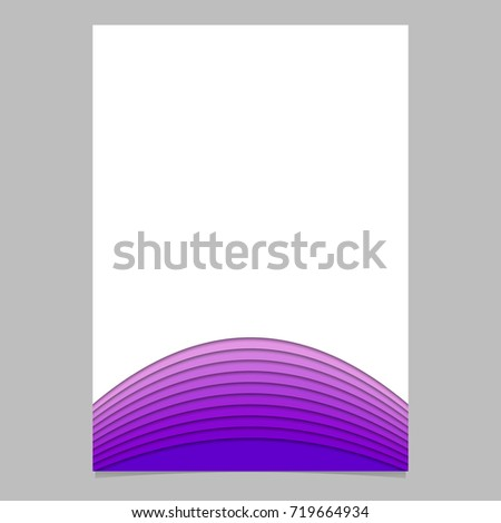 Blank Brochure Template Layer Stripes Purple Stock Vector - 3d brochure template