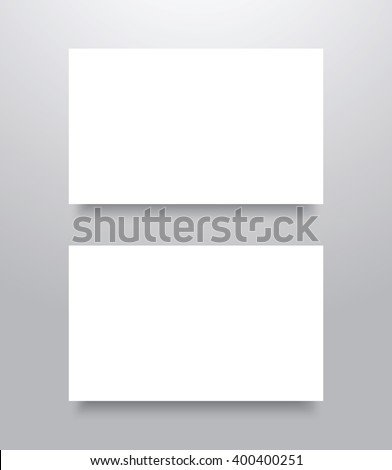 Blank business card mockup template shadow stock vector 400400251 blank business card mockup template with shadow vector illustration reheart Gallery