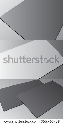 Blank business card with shadow template. Vector illustration EPS10