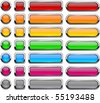 Blank buttons with chrome border. - stock vector