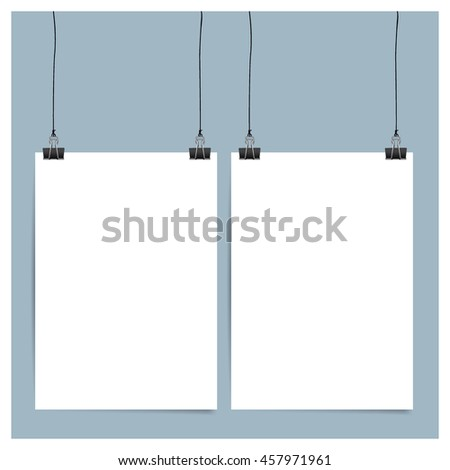 Blank catalog, magazine, book template with soft shadows. Ready for your design. Vector illustration.