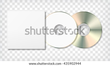 Blank Cd Disk Case Template Photo Stock Vector