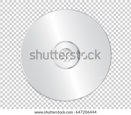 blank cd template on transparent background stock vector 647206444