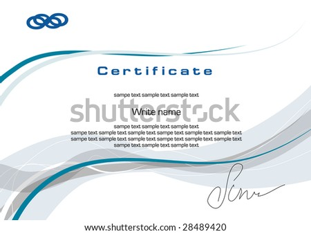 blank certificate or diploma - stock vector