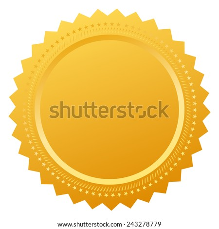 Blank certificate seal - stock vector