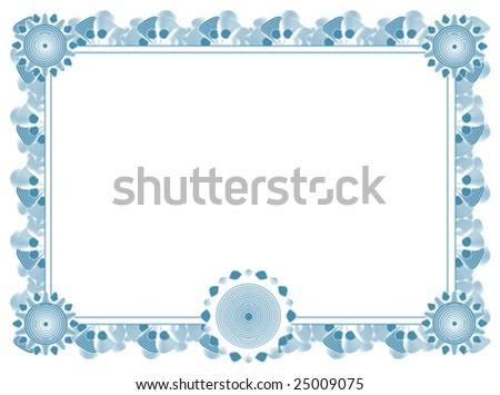 Blank Certificate Template Stock Vector 25009075 - Shutterstock