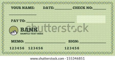 sample blank check