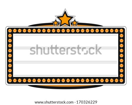 Blank Cinema Billboard Vector Design - stock vector