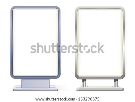Blank citylight boards - stock vector