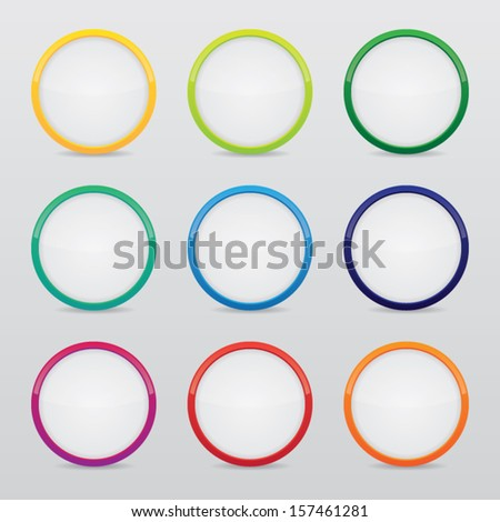 Blank Colorful Round Icons - stock vector