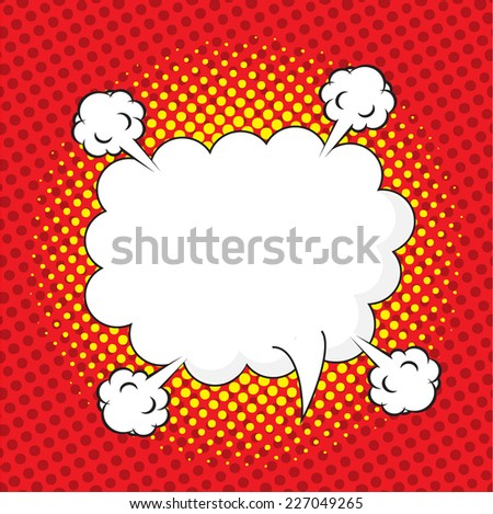 Blank comic speech bubble in pop art style, comic strip, comic backgound