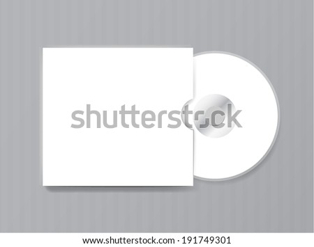 Blank compact disk on white background vector - stock vector
