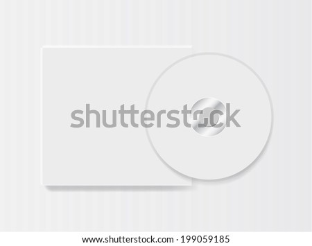Blank compact disk on white background vector