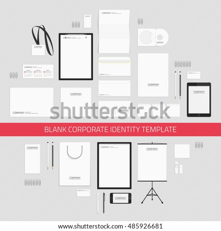 blank corporate identity templates business stationery stock, Presentation templates