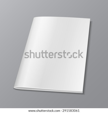 Blank Cover Of Magazine, Book, Booklet, Brochure. Illustration Isolated On Gray Background. Mock Up Template Ready For Your Design. Vector EPS10 - stock vector