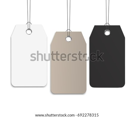 Blank Labels Template Price Tags Set Stock Vector 531389539