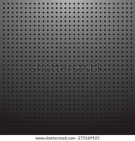 Blank dark pegboard background - stock vector