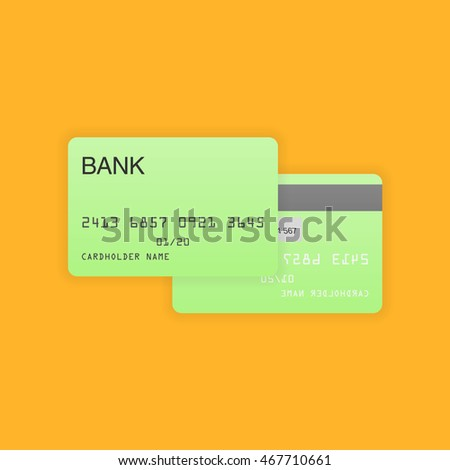 Blank debit or credit card vector illustration