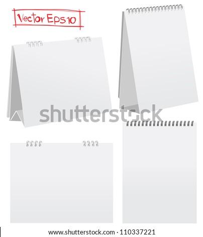 Blank desktop calendars. Vector illustration - stock vector
