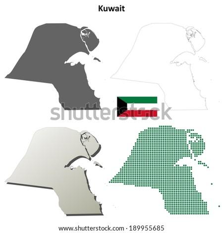 Kuwait Map Vector Maps of Kuwait Vector