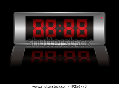 Blank digital alarm clock that you can change to any time you want - stock vector
