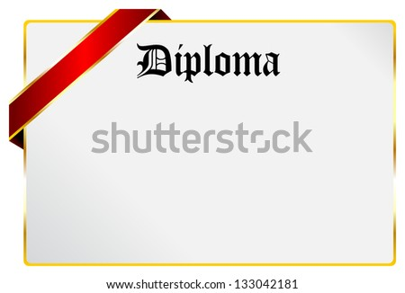 Blank Diploma Certificate Document