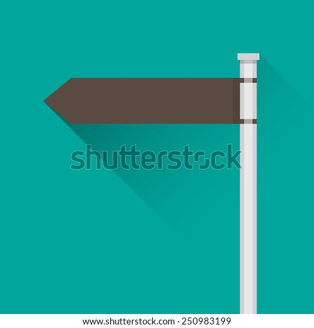 Blank direction signpost - stock vector