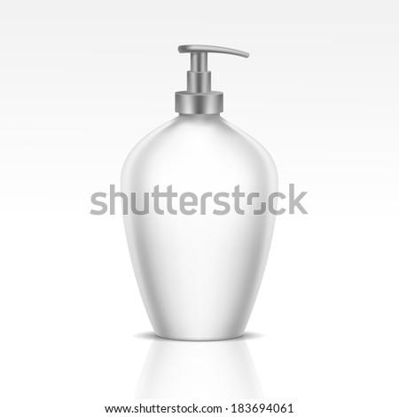 Blank Dispenser Pump for Liquid Soap, Foam or Gel - stock vector