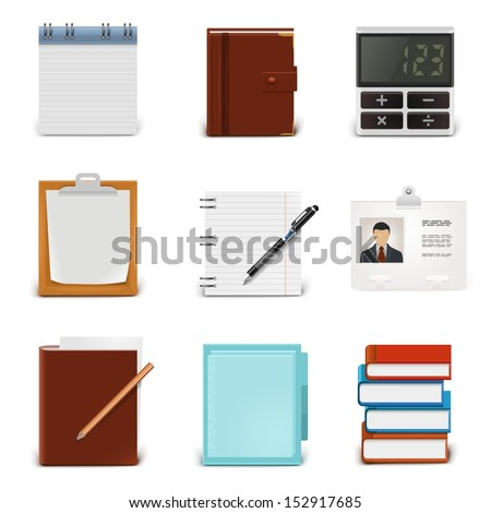 blank document vector icon set - stock vector