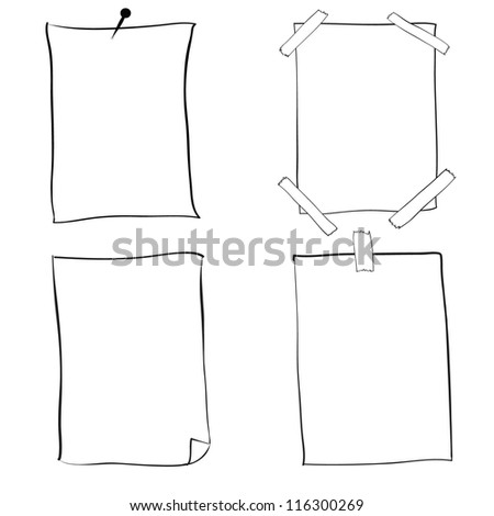 blank drawing paper vector - stock vector