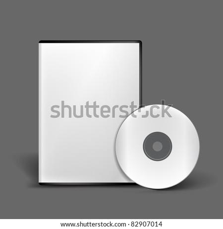 Blank DVD case and disc vector design - stock vector