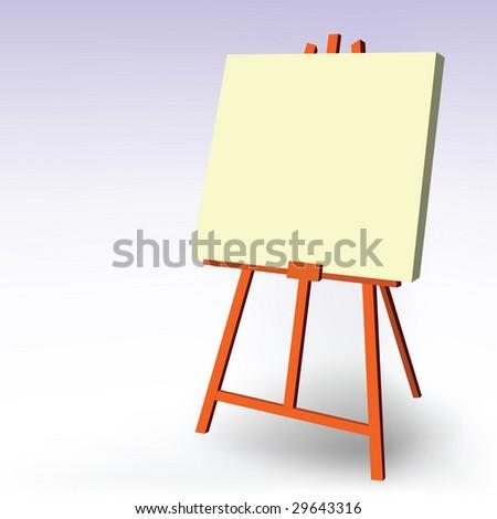 blank easel - stock vector