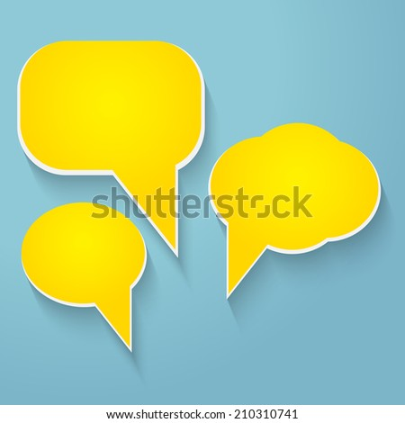 Blank empty colorful vector speech bubbles