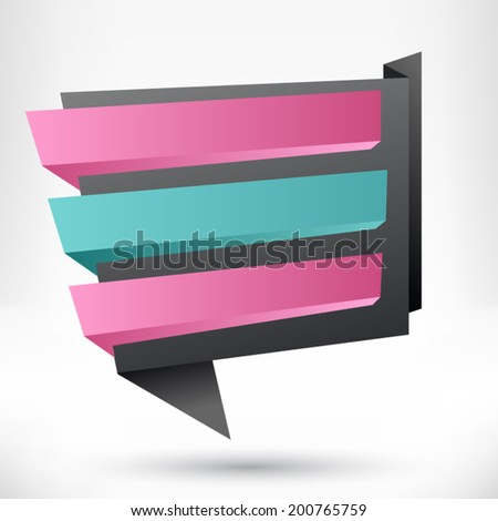 Blank empty origami design element. Banner sale background.  - stock vector