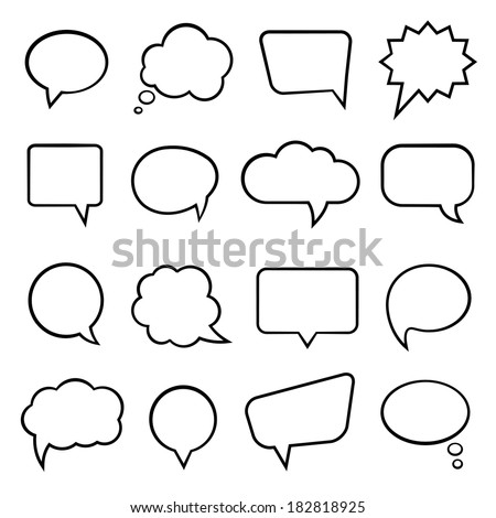 Blank empty speech bubbles for infographics vector illustration