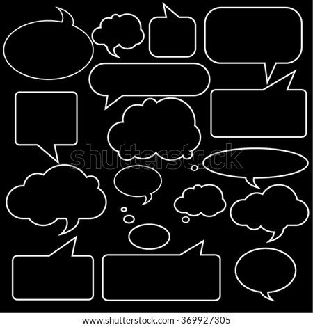 Blank empty  speech bubbles Vector illustration Isolated objects