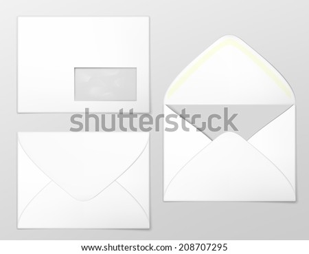 Blank envelopes. Photo-realistic vector illustration. - stock vector