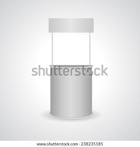 Blank Exhibition promotion counter isolated on white - vector illustration - stock vector