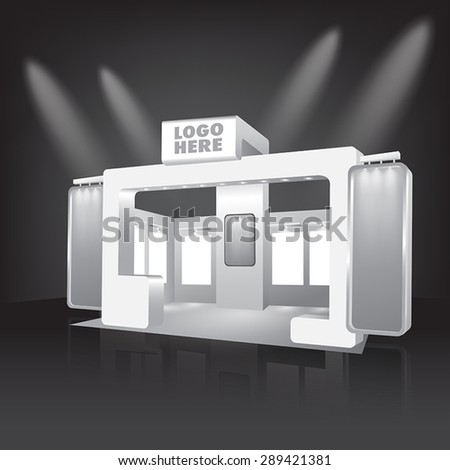 Blank exhibition trade design vector - stock vector