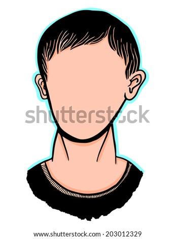Blank face man - stock vector