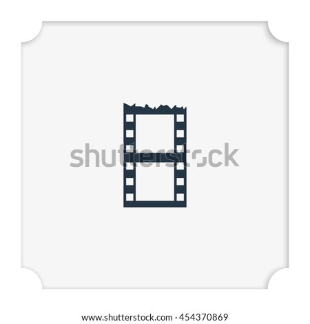 Blank film strip. Celluloid icon. - stock vector