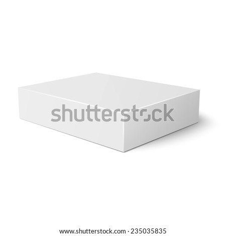Blank flat paper or cardboard box template lying on white background Packaging collection. Vector illustration. - stock vector
