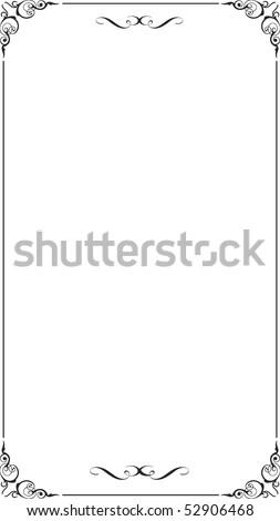 Blank floral frame border. Vector. - stock vector