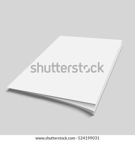Blank Flying Cover Of Magazine Book Booklet Brochure Illustration Isolated Mock Up Template Ready For Your Design Vector eps 10