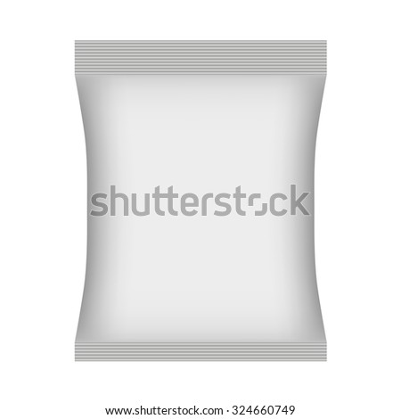 Blank Foil Food Snack Sachet Bag Packaging vector